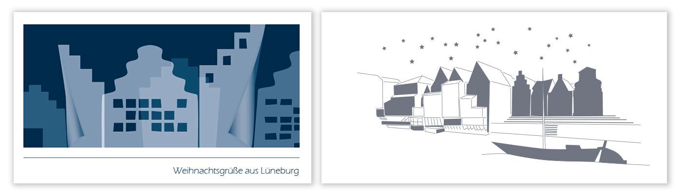 Weihnachtskarten Büro.Weihnachtskarten Mit Individuellem Design Grafik Buero Im Norden